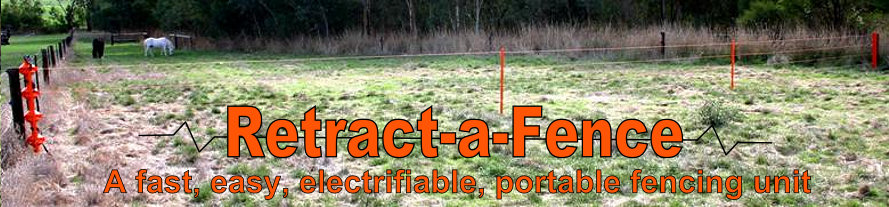 Retract-a-fence - A portable, electrifiable fencing unit